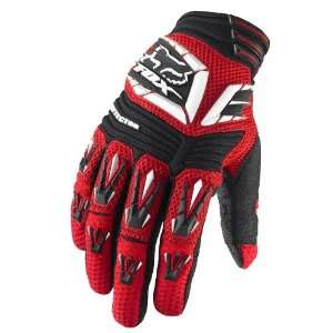Fox Racing Pawtector Gloves   Small/White/Red Automotive