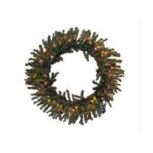36 Pre Lit Tannenbaum Artificial Christmas Wreath   Multi