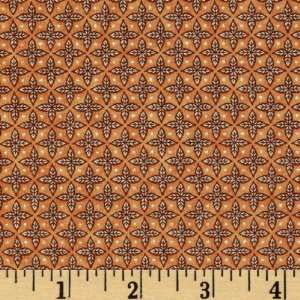 44 Wide Petal Me Pink Star Flower Orange Fabric By The