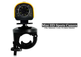 Mini sports camera High definition 720p Ultra durable With bicycle