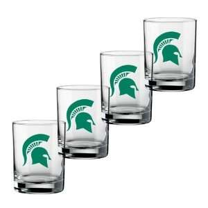 22812 14 Ounce Michigan State Logo   Set Of 4