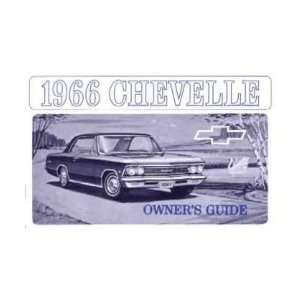 1966 CHEVROLET CHEVELLE Owners Manual User Guide Automotive
