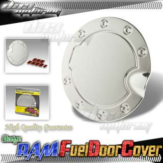 BULLY CHROME STAINLESS STEEL STICK/TYPE ON GAS/FUEL/TANK DOOR COVER
