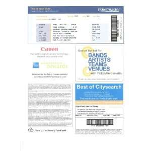 MICHAEL JACKSON MEMORIAL TICKET COLLECTIBLE