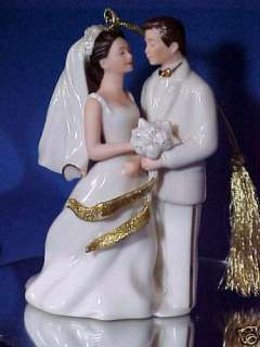 Lenox Wedding Cake Topper Bride & Groom Ornament