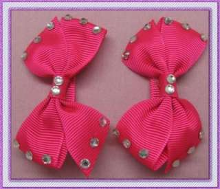 WHOLESALE 50PAIRS GIRLS BABY HAIR BOW CLIP DIAMOND BUTTERFLY ALLIGATOR