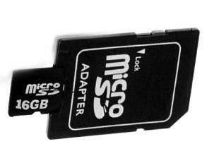 New 16GB Micro SD Card with Adapter ~ High Capacity Memory Card