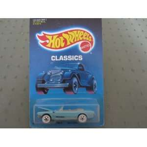 65 Mustang Convertible 1987 Hot Wheels Classics #1542 Light Blue Tan