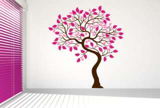 Wall Art Vinyl Decal Sticker Tree Two Color Leaves