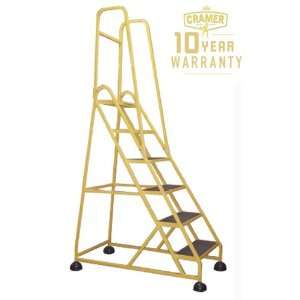 "Cramer® ""Stop Step"" Six Step Aluminum Ladder with Double Handrail"