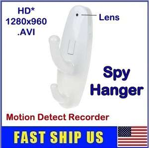 HD 1280x960 Clothes Hook Spy Hanger Camera Mini Hidden DVR Motion