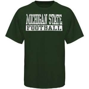 NCAA Michigan State Spartans Green Stencil Football T