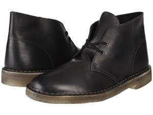 Clarks Classic Desert Boot Black Soft Smooth Leather 77967