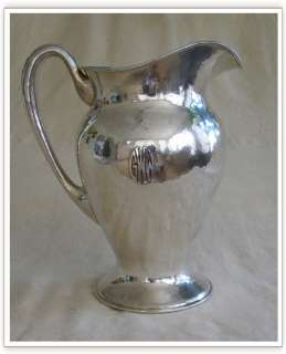 LEBOLT Handwrought Sterling Water Pitcher ARTS & CRAFTS