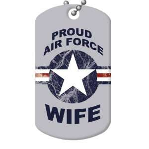 Proud Air Force Wife Dog Tag and Chain