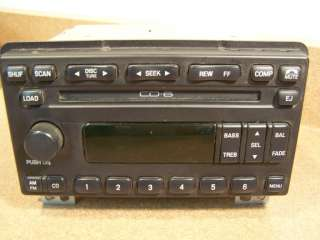 Explorer Mustang 6 disc CD player radio 01 02 03 04 1L2F 18C815 AE