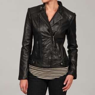 Michael Kors Womens Black Leather Jacket