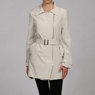 Anne Klein Womens Asymmetric Bonded Coat