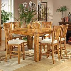 Americana Light Oak 5 piece Pub Table Set