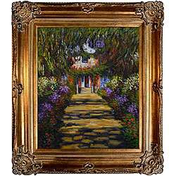 Monet Garden Path at Giverny Canvas Art Oil Painting