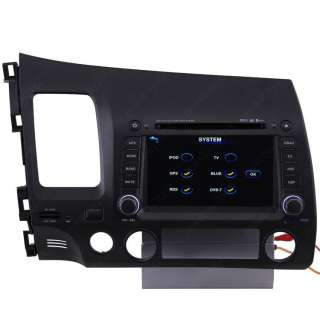 11 Honda Civic Car GPS Navigation Bluetooth IPOD Radio ISDB T TV DVD