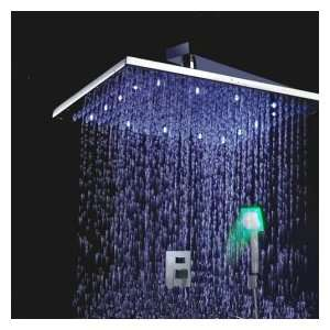 Factory drop ship Single Handle Chrome Wall mount LED Shower Facuet