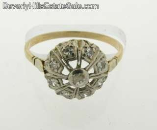 Antique Art Deco White and Yellow Gold Diamonds Rings