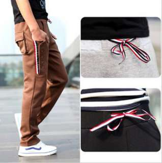 Fashion Mens Casual Jogging Rope Sport Trousers Fit Harem Pants 3
