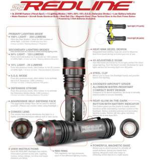 New NEBO Redline SE 5615 250 Lumens LED Tactical Flashlight with
