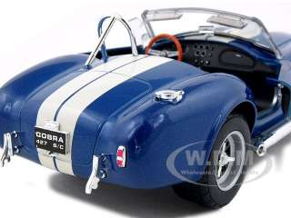 1965 SHELBY COBRA 427 BLUE 124 DIECAST MODEL CAR