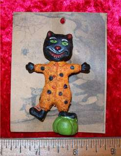 Prim Halloween Black Cat Pin, Samhain NIP Really Cool
