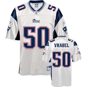 Mike Vrabel White Reebok NFL Replica New England Patriots Youth Jersey