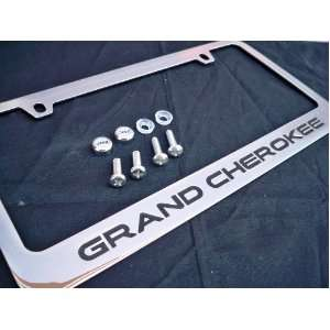 Jeep Grand Cherokee Chrome Metal License Plate Frame with