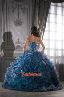 Blue Sweetheart Quinceanera Dress Ball Gown for Sweet 16/15th Birthday