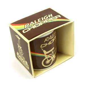 Raleigh Chopper Mug, Brown Rainbow Retro