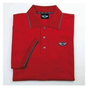 MINI Cooper Mens Logo Polo   Red   Size Extra Large