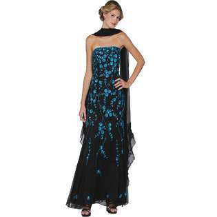 Black Evening Gown. Womens Long Evening Gown. Prom Dress (1878) Black