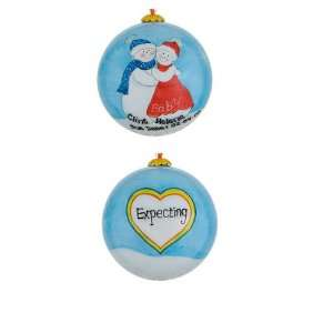 Personalized Expecting Couple Christmas Ornament
