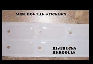50 pc MINI MILITARY DOG TAGS EPOXY STICKERS