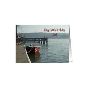Fishing Boat 20th Son Birthday Card Card Toys & Games
