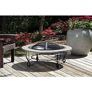 39 Round Cast Iron River Rock Fire Pit  Fire Sense Outdoor Living
