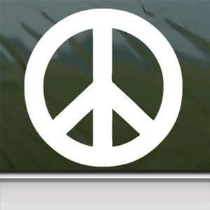 PEACE Sign White Sticker Symbol Car Vinyl Window Laptop