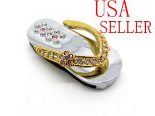 GB cute Crystal Slipper Shape pendant USB Flash Drive Necklace