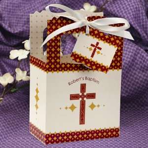 Gold Cross   Classic Personalized Baptism Favor Boxes Toys & Games