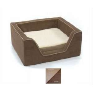 Small Memory Foam Square Beds   Peat/Coffee