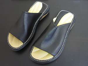 Mens Steve Madden Black Leather Dress Sandals SZ 8