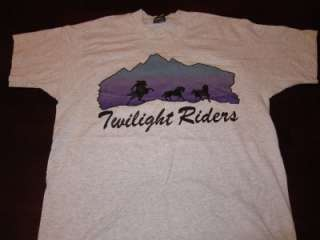Mens 50/50 Twilight Riders Mod Hippie Cowboy Horse Shirt Sz L