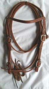NEW SHOWMAN Made in USA Bridle Headstall Reins tack