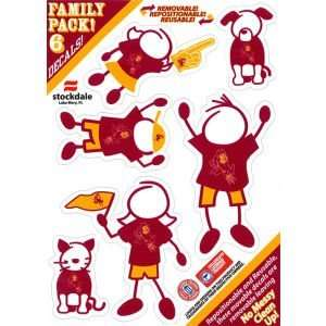 Arizona State Sun Devils Family Decal 6pk