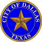 1x STICKER SEAL OF DALLAS TEXAS USA car decal bumper